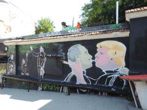 LITHUANIA: Sprayer Marla Singer and streetart restaurant Keulė Rūkė
