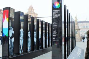 ITALY: Torino Cittá del Cinema 2020 – Art Installations – I volti del cinema